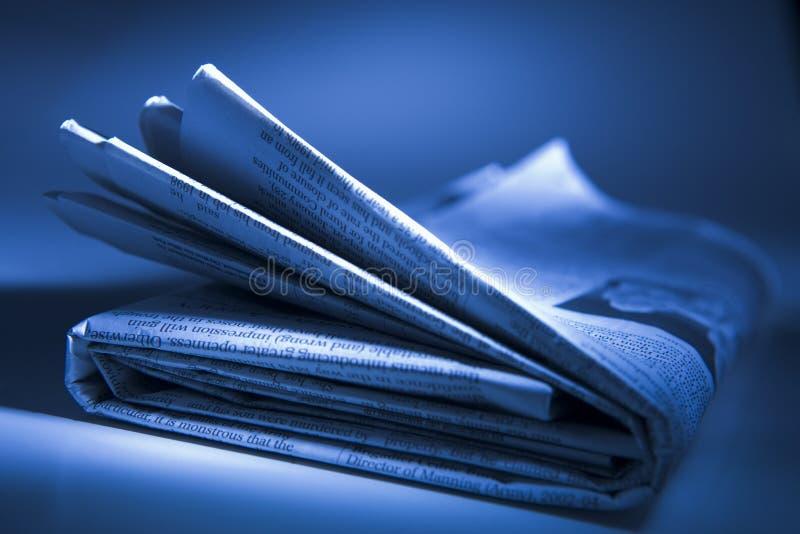 被折叠的报纸 免版税库存照片