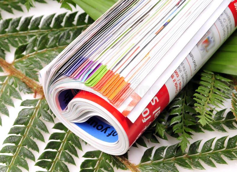 被折叠的杂志 免版税库存照片