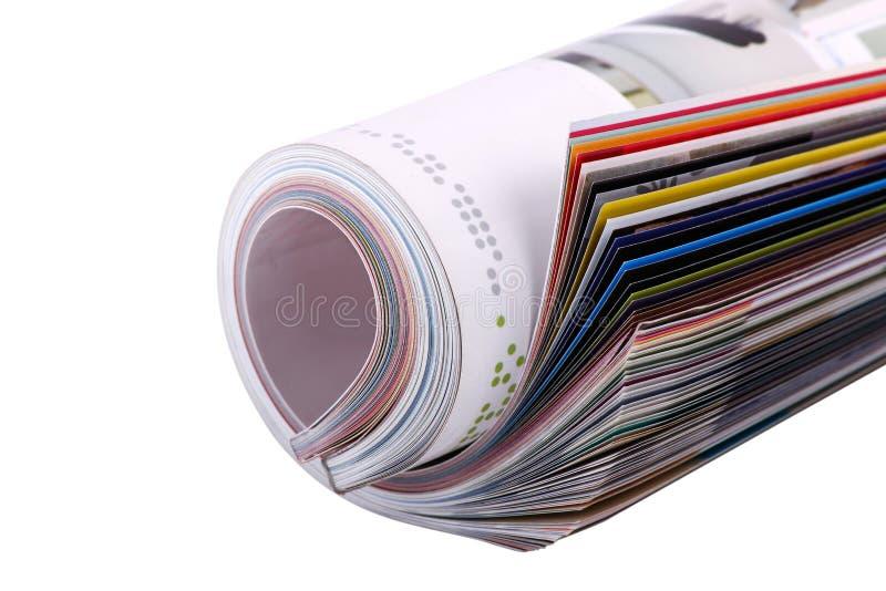 被折叠的杂志 免版税库存图片