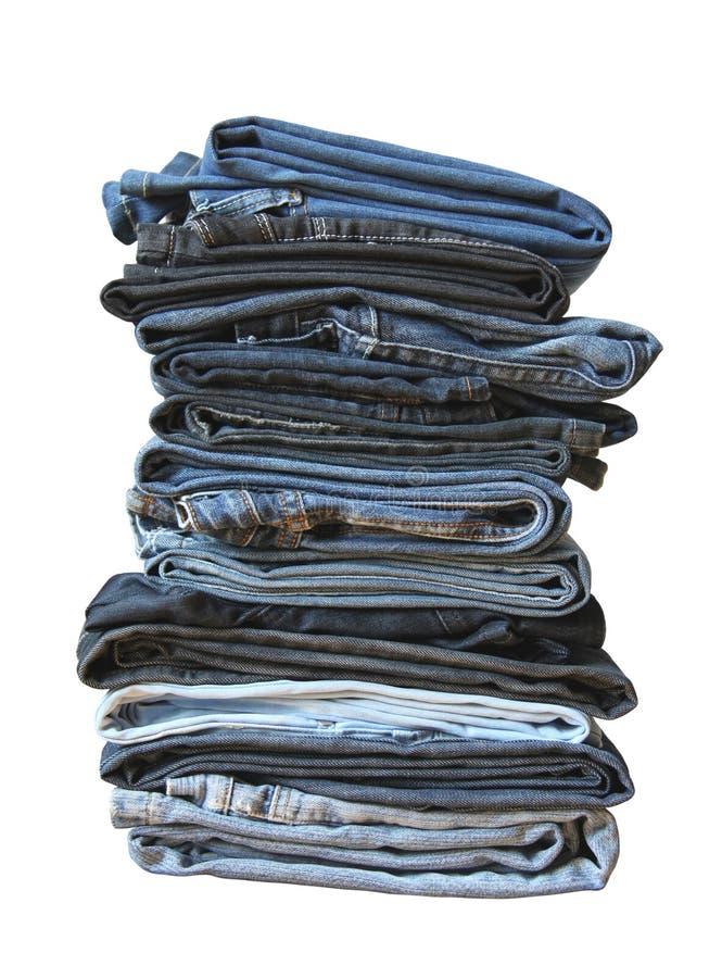 被折叠的牛仔裤 免版税库存图片