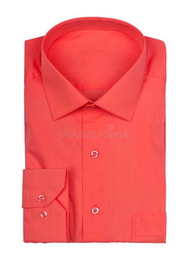 被折叠的红色衬衣 免版税库存照片