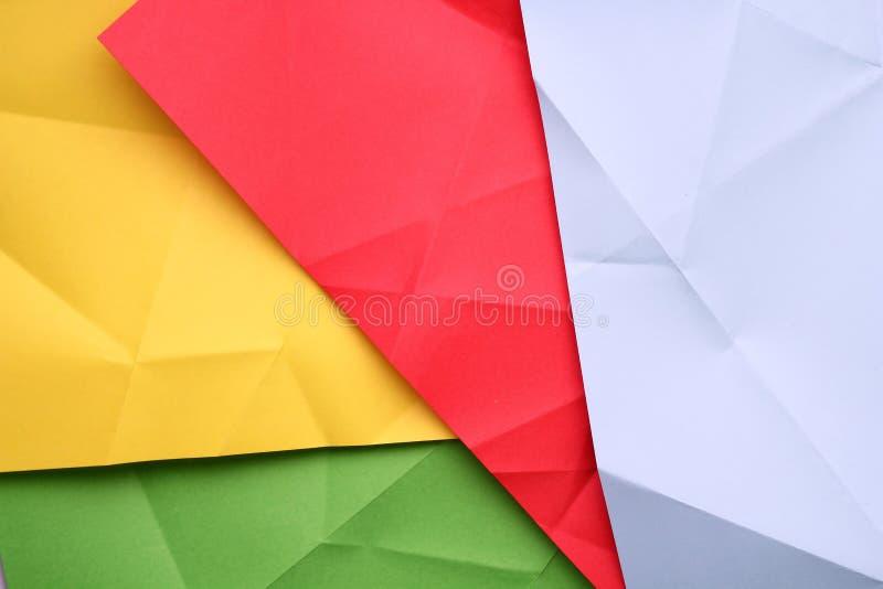 被折叠的纸张 免版税图库摄影