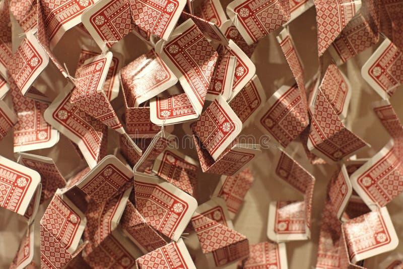 被折叠的纸牌 免版税库存照片