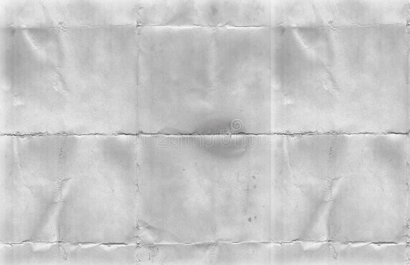 被折叠的纸纹理 库存图片