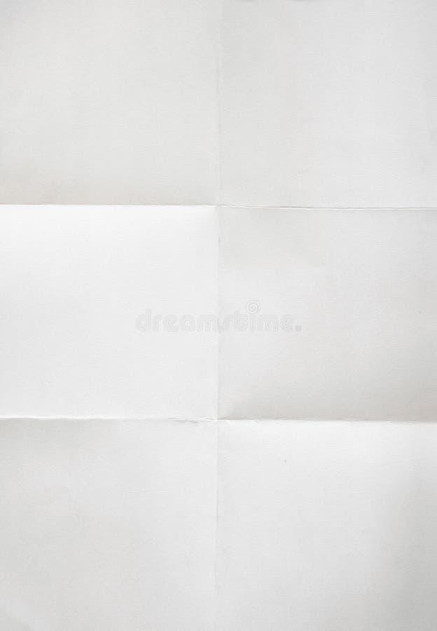 被折叠的纸页白色 库存照片
