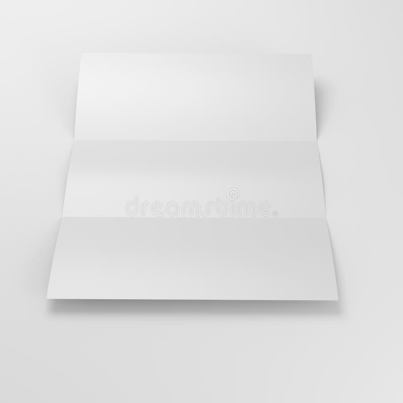 被折叠的纸页 库存照片