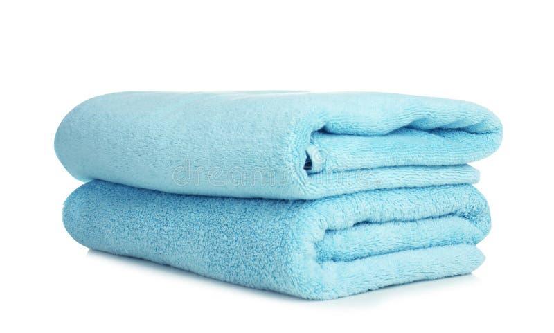 被折叠的软的特里毛巾 库存图片