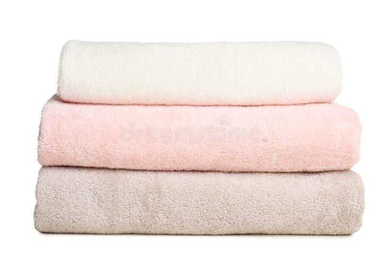 被折叠的软的特里毛巾 图库摄影