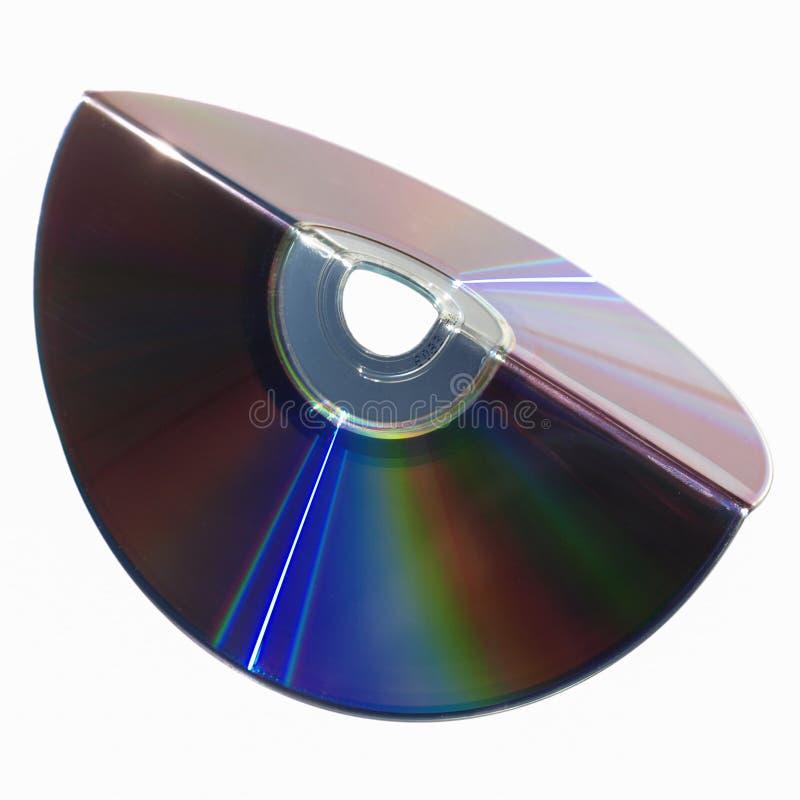 被折叠的软绵绵CD 库存图片