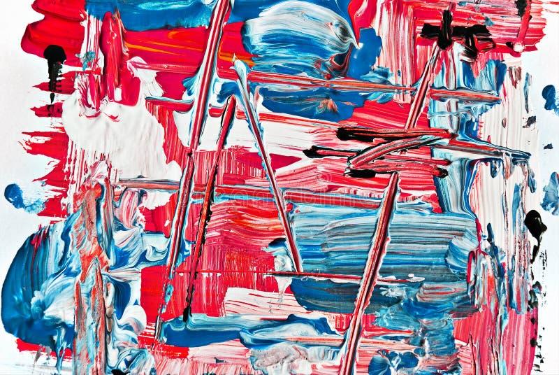 被抹上的抽象油漆 免版税库存图片