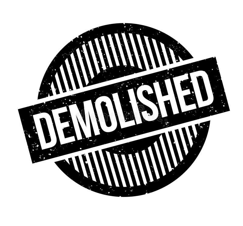 被拆毁的不加考虑表赞同的人 库存例证