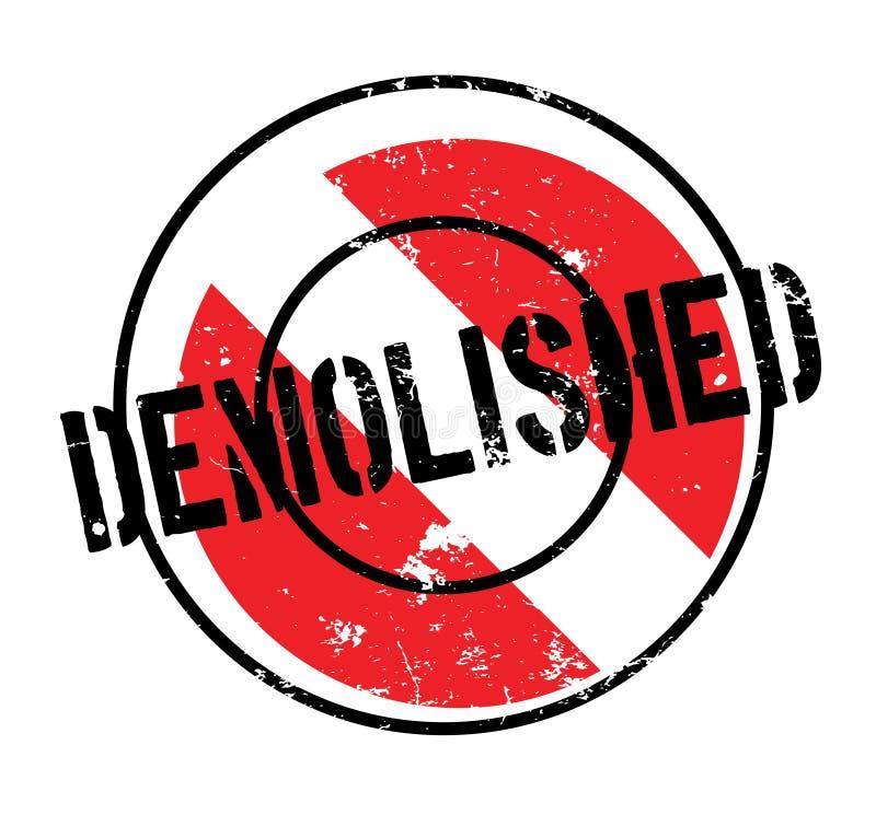 被拆毁的不加考虑表赞同的人 皇族释放例证