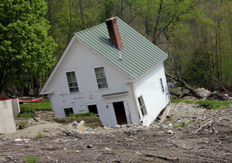 被拆毁的房子 库存照片