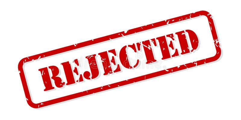 被拒绝的不加考虑表赞同的人传染媒介 库存例证
