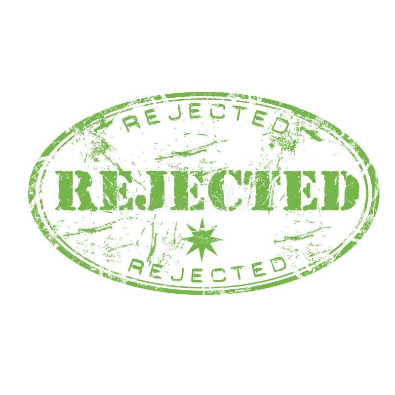 被拒绝的不加考虑表赞同的人 向量例证