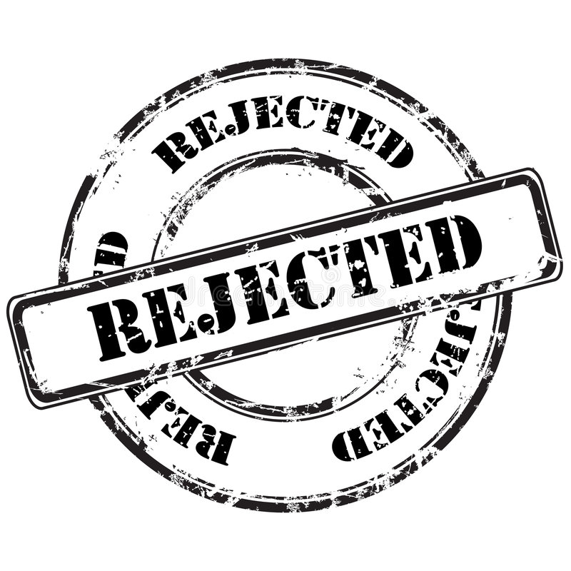 被拒绝的grunge不加考虑表赞同的人 库存例证