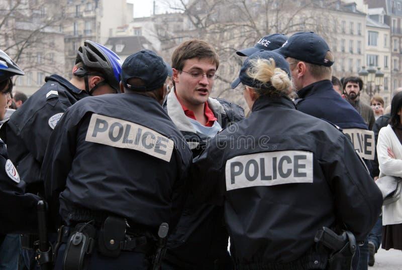 被拘捕的宽容慷慨激昂到巴黎 免版税图库摄影