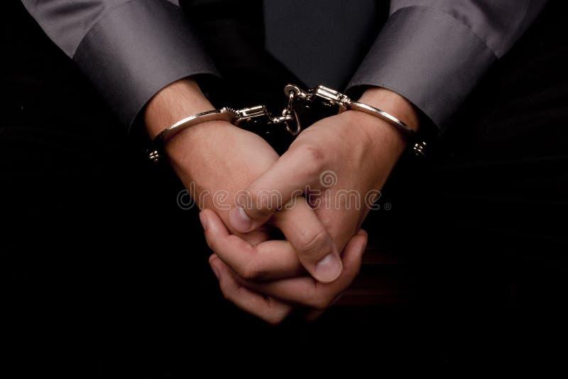 被拘捕的问 免版税库存图片