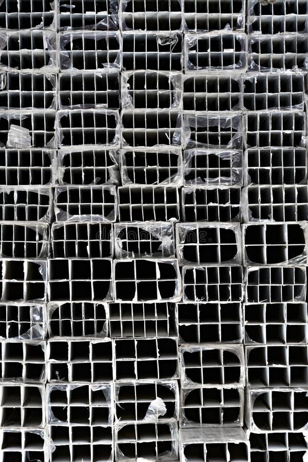被挤压的铝管 库存图片