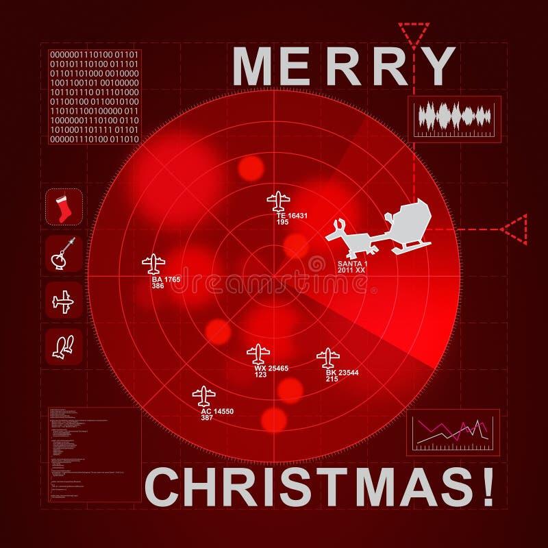 被捉住的圣诞节雷达s圣诞老人时间 向量例证