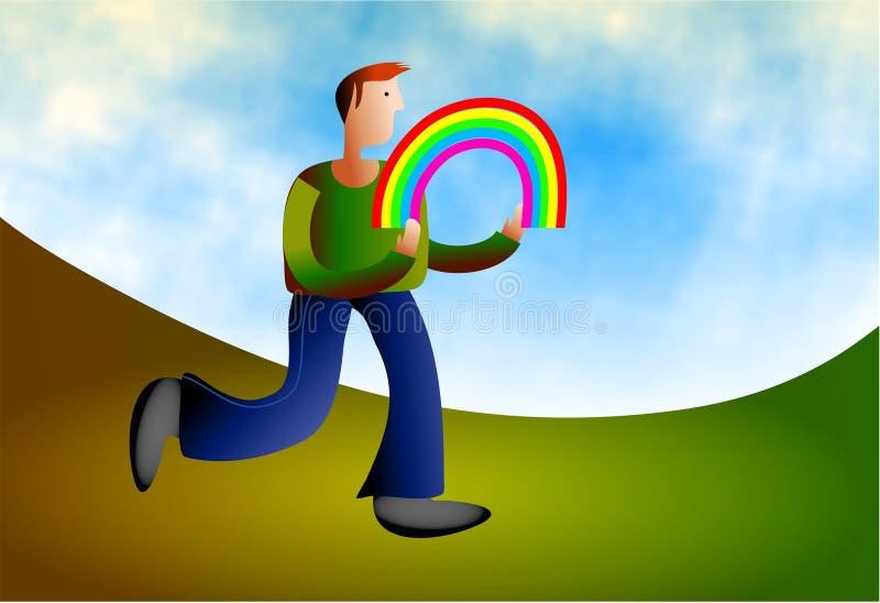 被捉住的彩虹 库存照片
