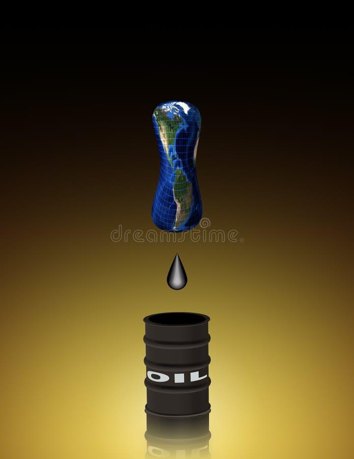 被排泄的油 皇族释放例证