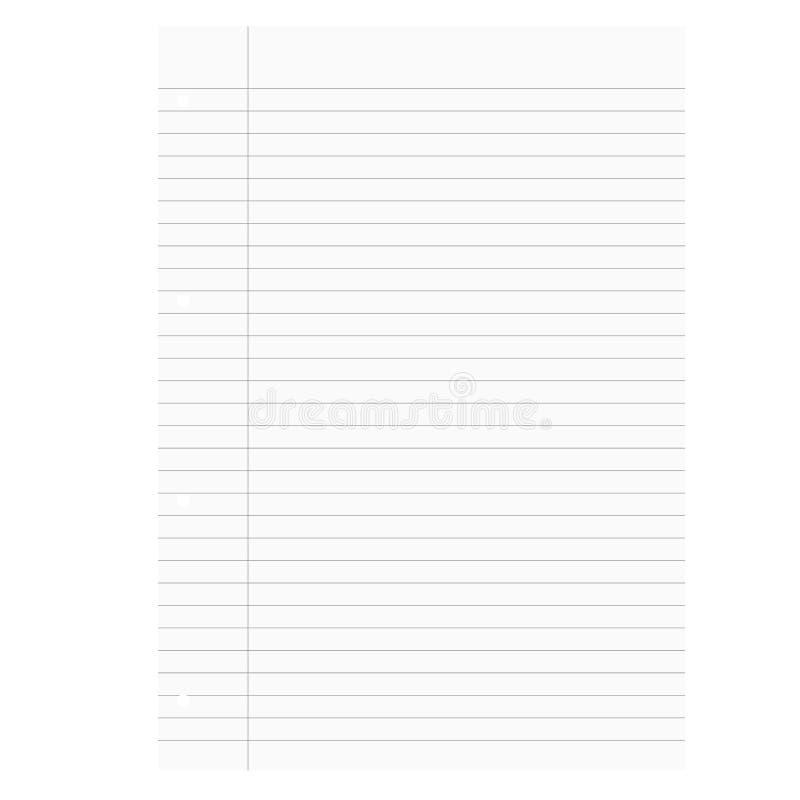 被排行的空白的白皮书 向量例证