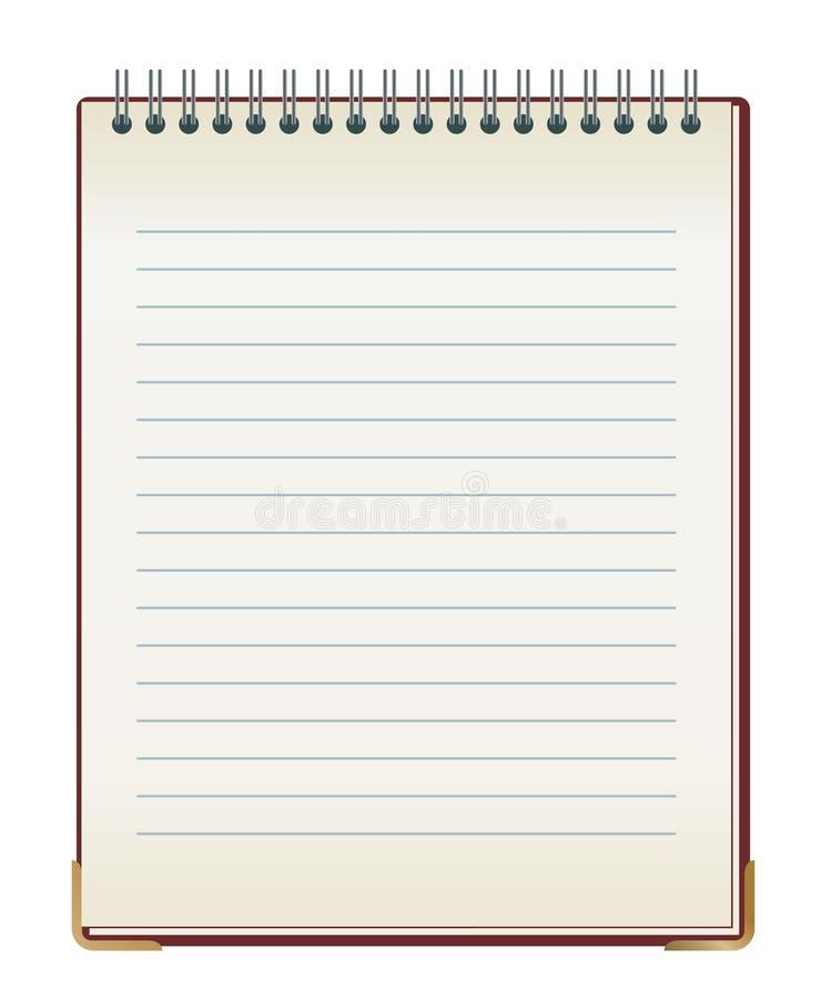 被排行的笔记本 库存例证