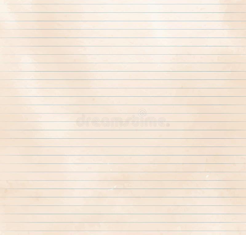 被排行的纸纹理 库存例证
