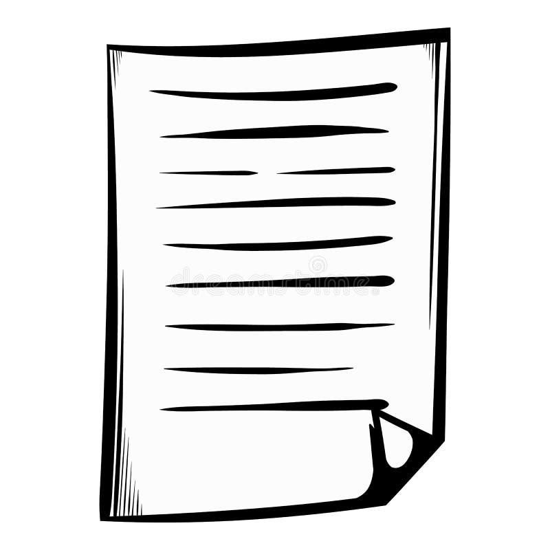 被排行的纸象动画片 库存例证