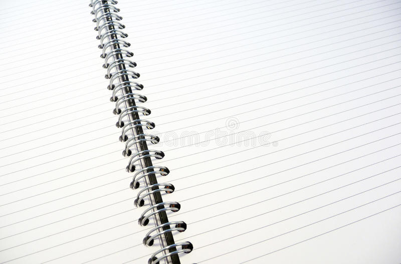 被排行的记事本白色 图库摄影