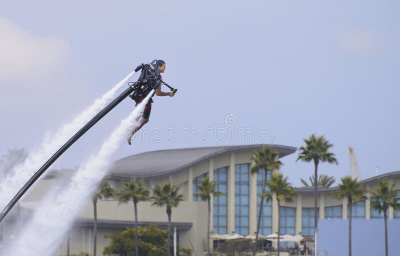 水被推进的jetpack 免版税库存照片