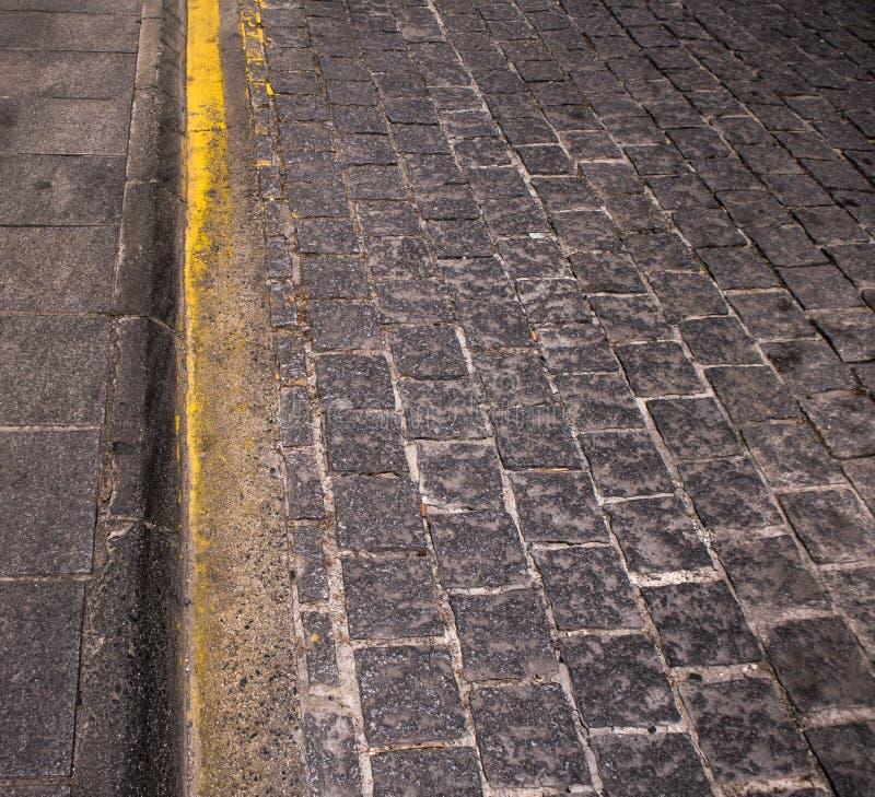 被提名的步行街道,有一部分的路面 图库摄影