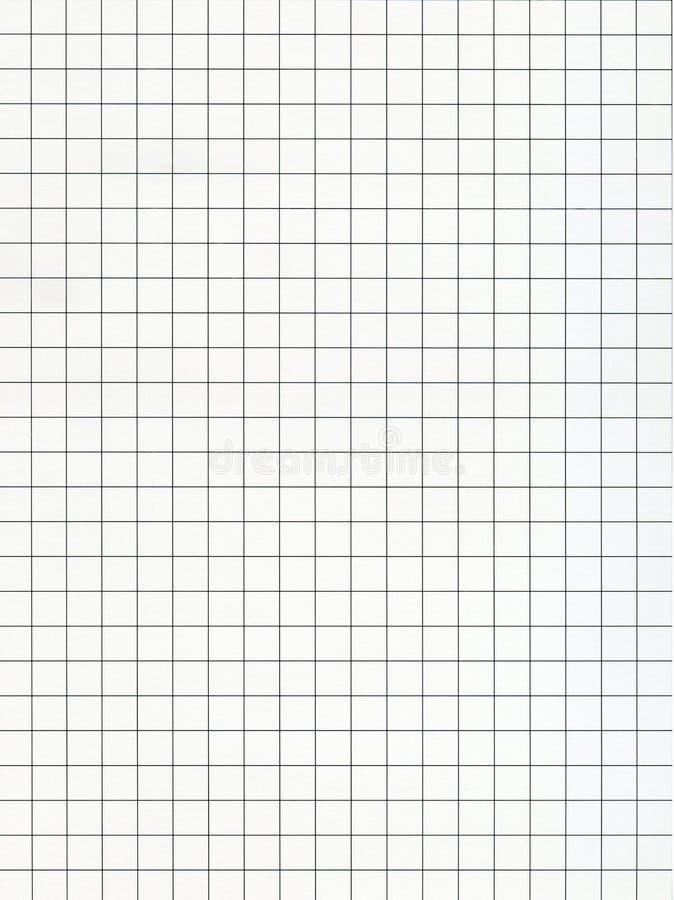 被摆正的座标图纸黑色线 库存照片