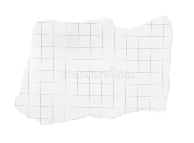 被摆正被撕毁的位纸张 免版税库存照片