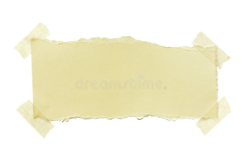 被撕毁的屏蔽的纸带 库存图片