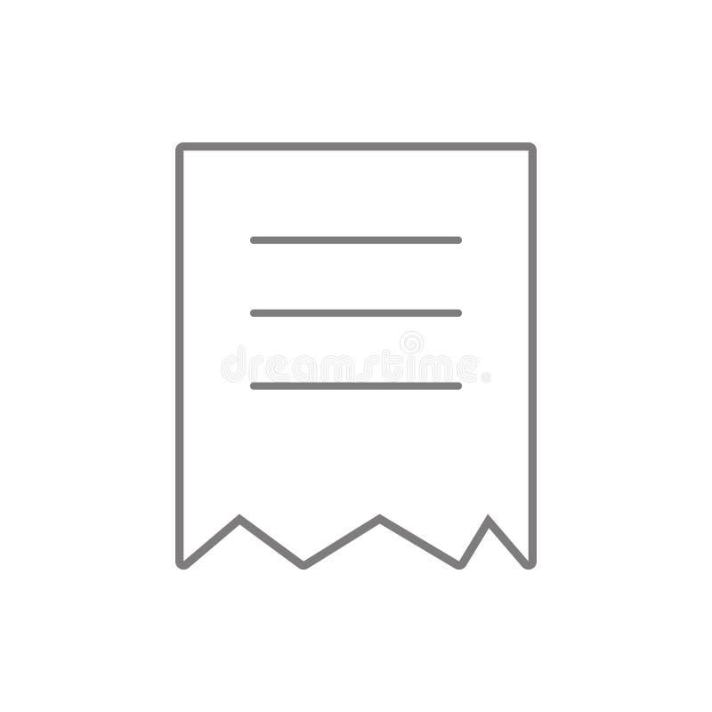 被撕毁的文件象 网络安全的元素流动概念和网应用程序象的 网站设计的稀薄的线象和 向量例证