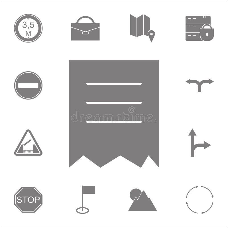 被撕毁的文件象 详细的套minimalistic象 优质质量图形设计标志 其中一个websi的汇集象 皇族释放例证