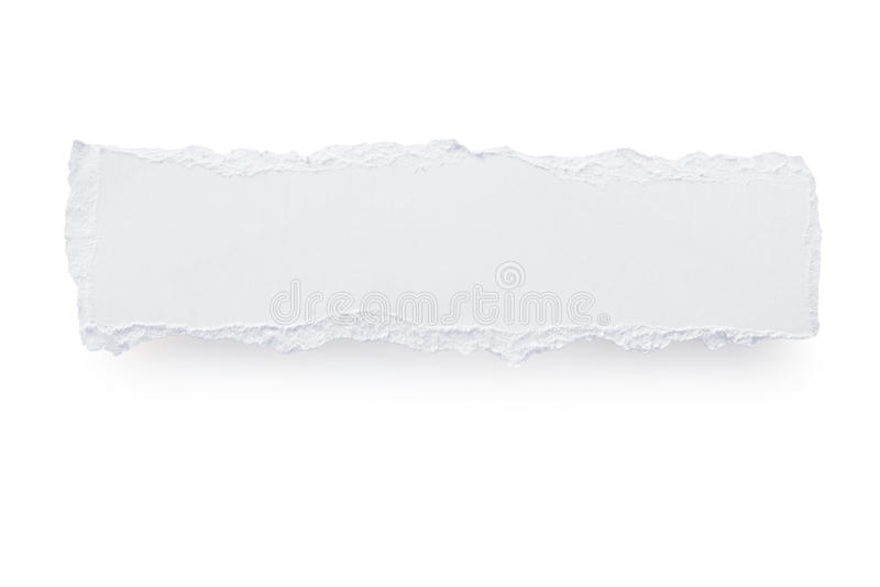被撕毁的横幅纸张 免版税图库摄影