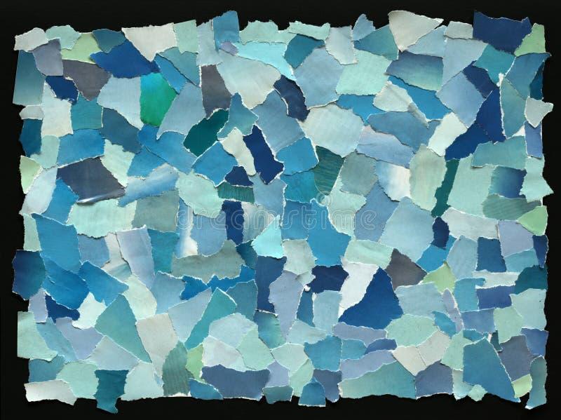 被撕毁的纸天蓝色纹理  图库摄影