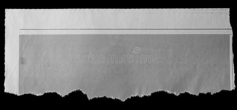被撕毁的纸张 免版税图库摄影