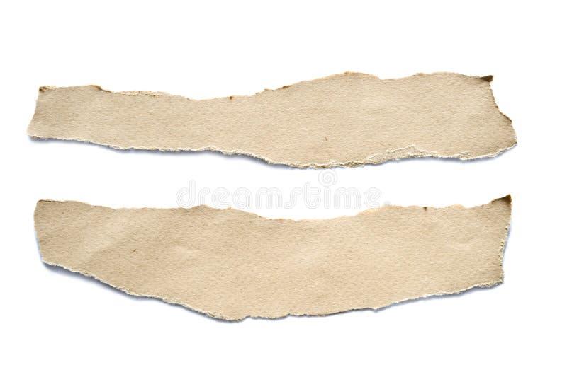 被撕毁的纸板料 免版税图库摄影