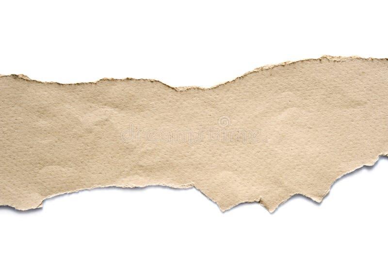 被撕毁的纸板料 免版税库存照片