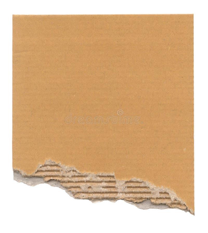 被撕毁的纸板 免版税库存照片