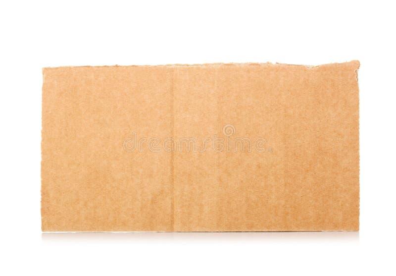 被撕毁的纸板 免版税库存图片