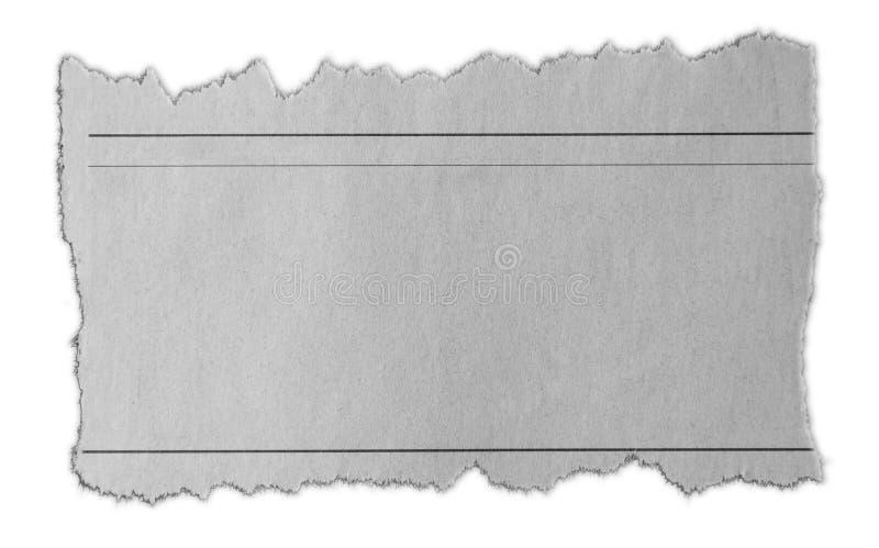 被撕毁的纸片断 库存图片