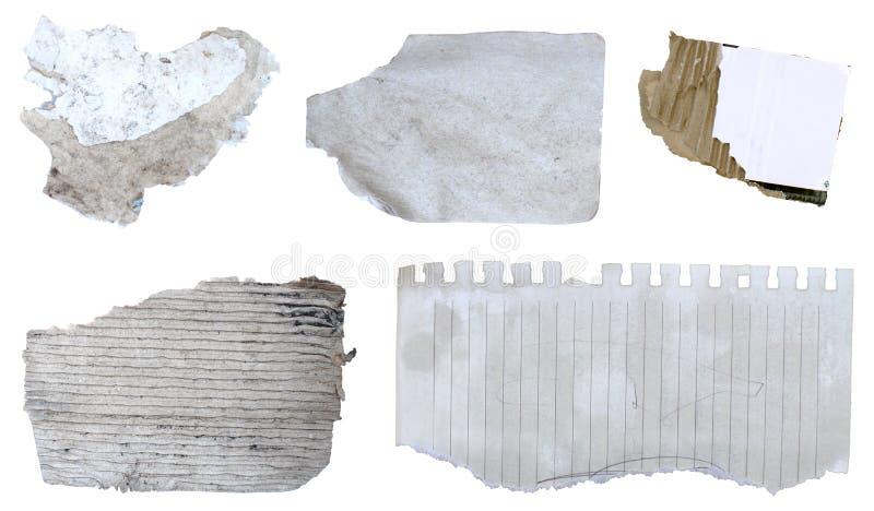 被撕毁的纸2 免版税库存照片