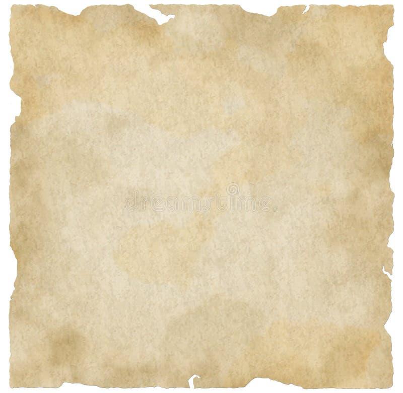 被撕毁的老纸张 库存例证
