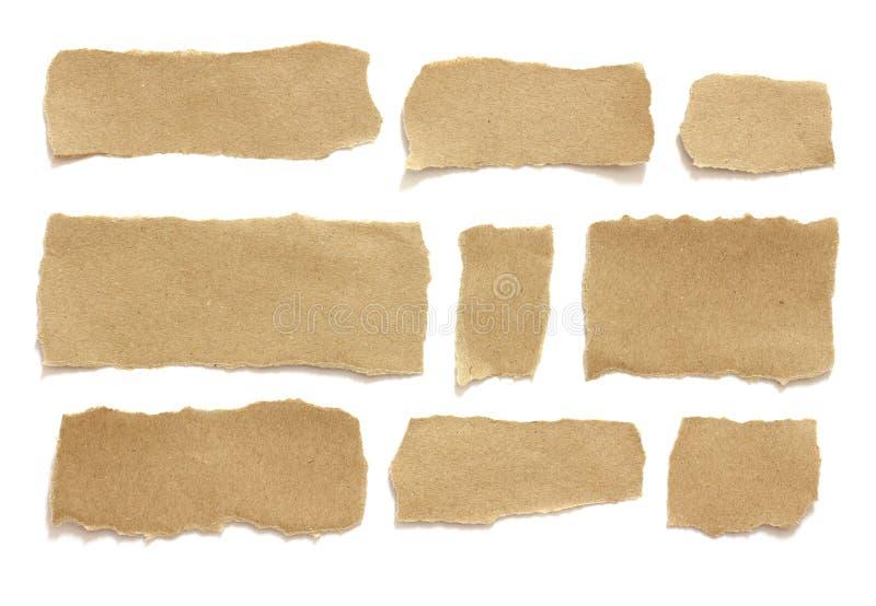 被撕毁的裂口纸 库存照片