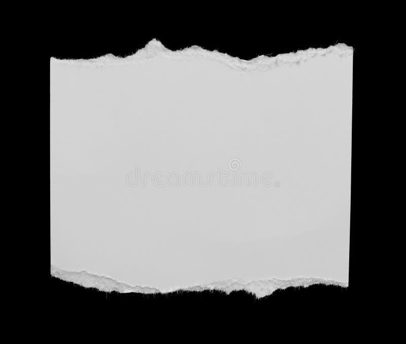 被撕毁的裂口纸 库存图片